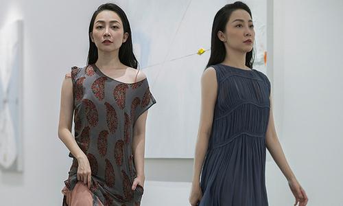 Linh Nga mặc váy lụa khoe vóc dáng mảnh mai