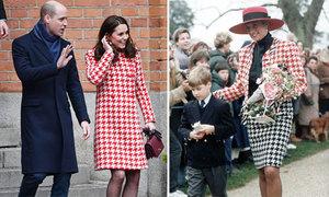 Kate diện áo khoác họa tiết giống hệt công nương Diana