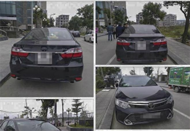 Ôtô bị vặt trộm gương, lấy logo trước và sau được người dân tòa nhà chụp lại.