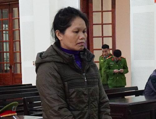 Lương Thị Thủy tại tòa hôm nay.