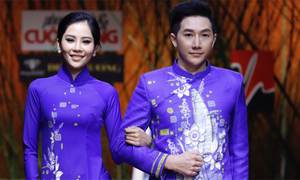 Chị song sinh của Nam Em kết đôi diễn áo dài cùng Nam Phong