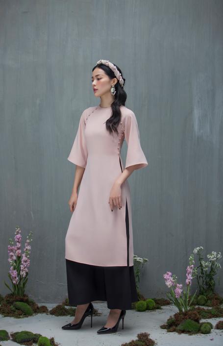 Hạ Vi đẹp mong manh với áo dài cách tân của nhà thiết kế Lucie - 1