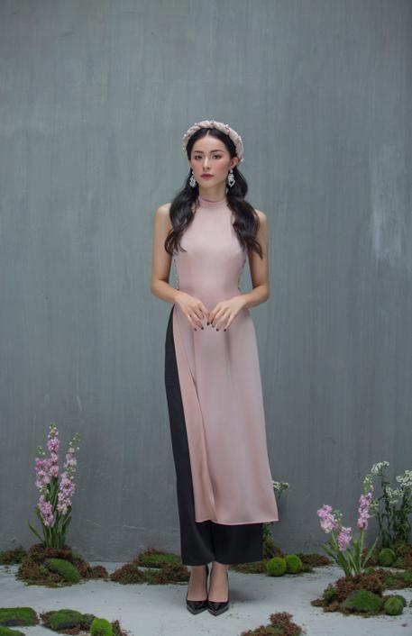 Hạ Vi đẹp mong manh với áo dài cách tân của nhà thiết kế Lucie - 2