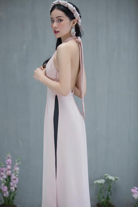 Hạ Vi đẹp mong manh với áo dài cách tân của nhà thiết kế Lucie - 3