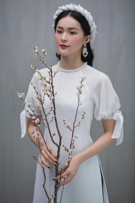 Hạ Vi đẹp mong manh với áo dài cách tân của nhà thiết kế Lucie - 5