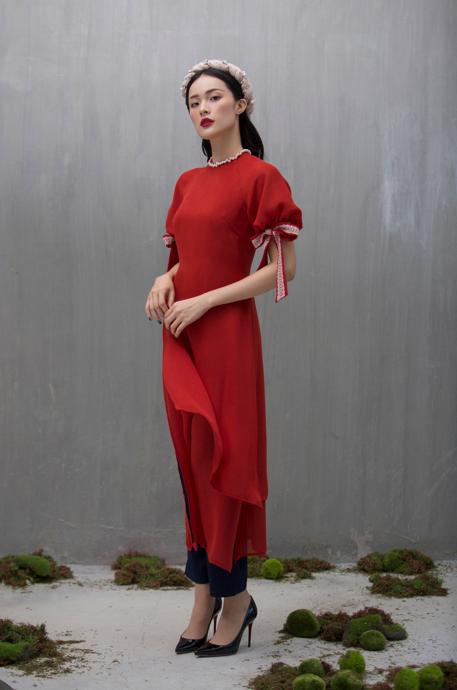 Hạ Vi đẹp mong manh với áo dài cách tân của nhà thiết kế Lucie - 6