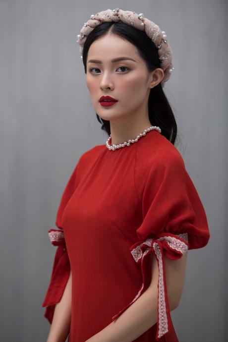 Hạ Vi đẹp mong manh với áo dài cách tân của nhà thiết kế Lucie - 7