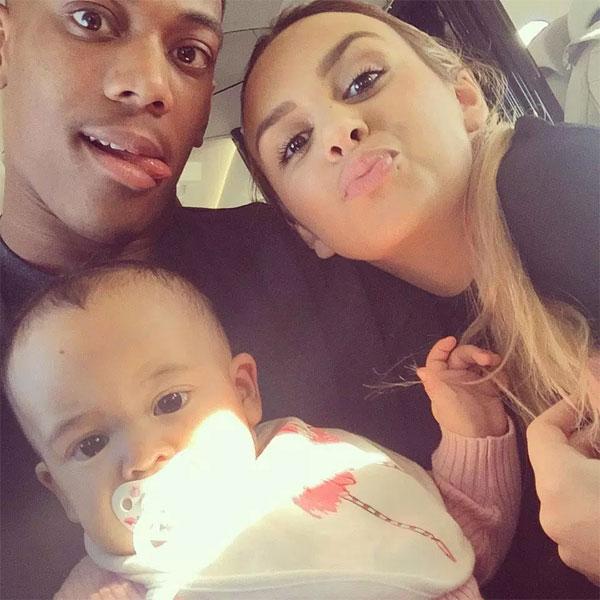 Martial bên tình cũ Samantha và con gái khi hai người còn bên nhau.
