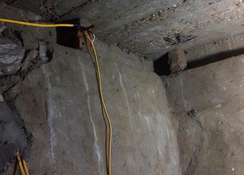 Căn hầm mà Dân xây dựng. Ảnh: CA.