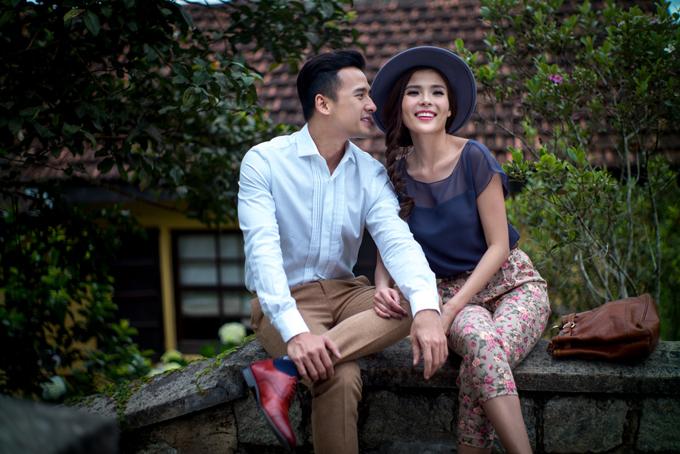 Lương Thế Thành và bà xã - diễn viên Thúy Diễm.