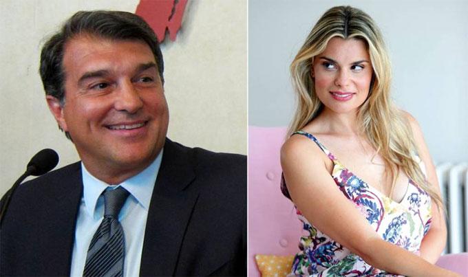 Joan Laporta và người yêu cũ Maria Lapiedra. Ảnh: AS.