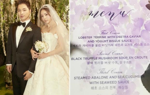 Sao Hàn đãi khách ăn gì trong tiệc cưới