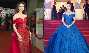 Tường Linh, Hà Thu diện váy cũ đi dự sự kiện