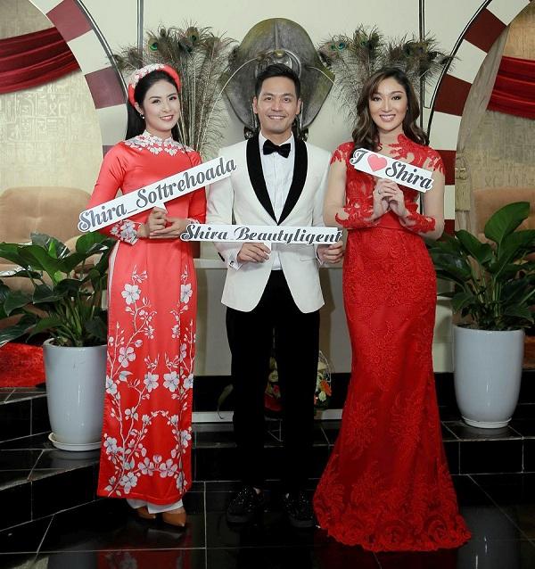 Hoa Hậu Ngọc Hân cũng kịp hội tụ cùng Hoa hậu Trái Đất và MC Phan Anh.