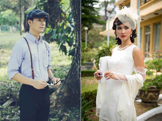 Nhan Phúc Vinh đóng cặp với Kim Tuyến trong phim Mộng phù hoa.