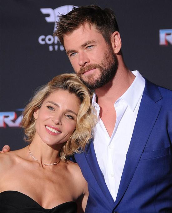 Vợ chồng Chris Hemsworth và Elsa Pataky.