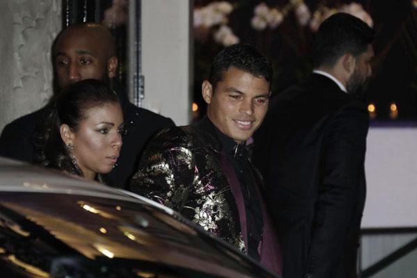 Vợ chồng thủ quânThiago Silva...