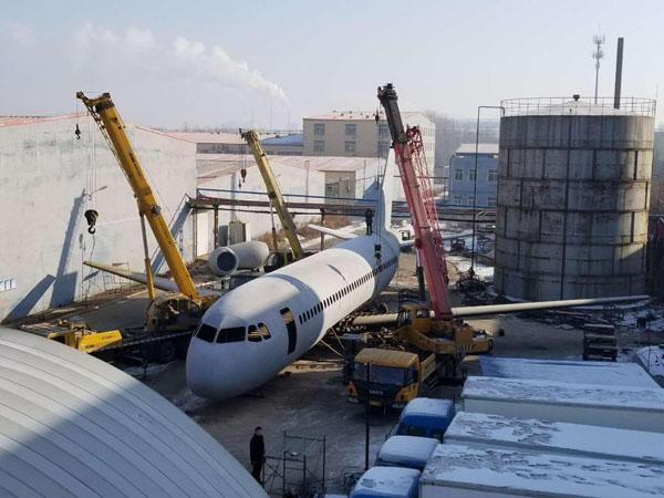 Chiếc máy bay bắt đầu được thi công vào tháng 10/2016.