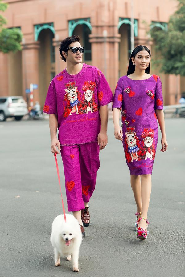 Lễ Valentine 14/2 năm nay rơi đúng vào 29 Tết, vì thế ngoài những bộ sưu tập dành cho ngày xuân, các nhà thiết kế Việt còn giới thiệu nhiều mẫu trang phục cho các cặp tình nhân.
