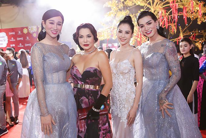 Nam Anh hội ngộ Hải Triều (trái), Cindy Thái Tài (giữa) và BB Trần.
