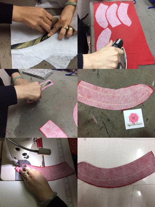 Với mẹ ít may vá, nên chọn may áo dài cổ tròn để đơn giản và tiết kiệm thời gian. Với chiếc áo dài có cổ, sử dụng phần vải phụ để cắt hai vạtcổ áo theo hướng dẫn trong hình vẽ.
