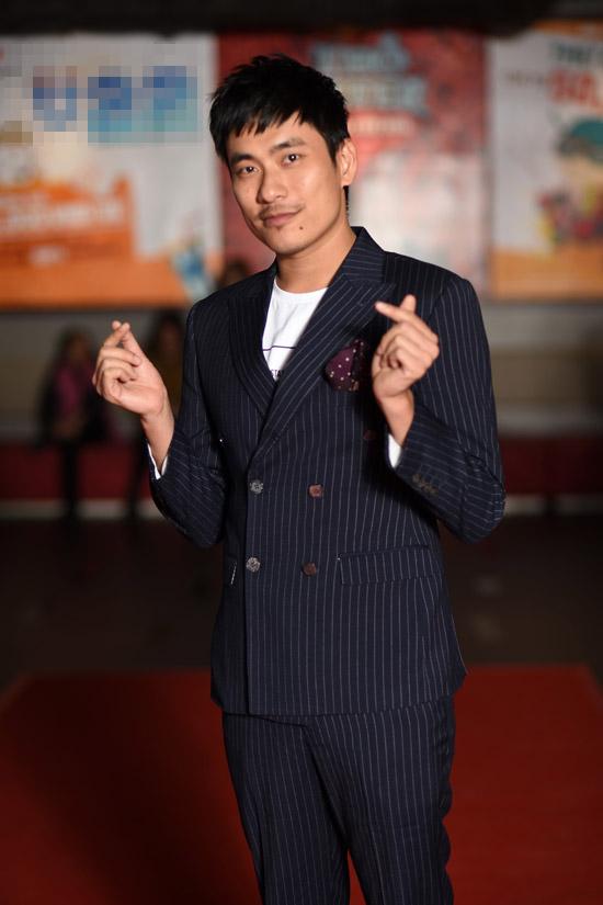 Kiều Minh Tuấn - người yêutrên màn ảnh của Nam Em cũng bảnh bao tại sự kiện.