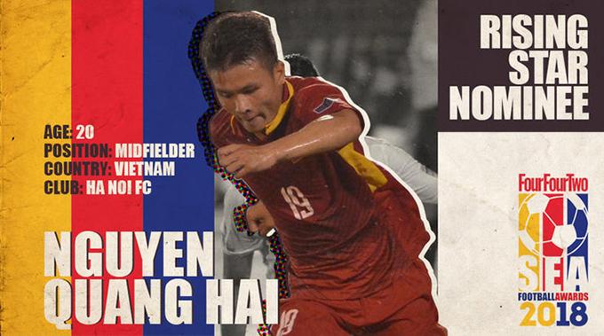 Quang Hải là một trong những tài năng sáng giá nhất của bóng đá Đông Nam Á hiện nay. Ảnh: TFT.