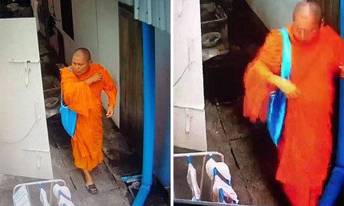 Một nhà sư Thái Lan bị bắt quả tang ăn trộm đồ lót phụ nữ