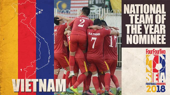 Tuyển Việt Nam gây thất vọng ở giải Đông Nam Á nhưng có phong độ ấn tượng ở vòng loại Asian Cup 2019. Ảnh: TFT.