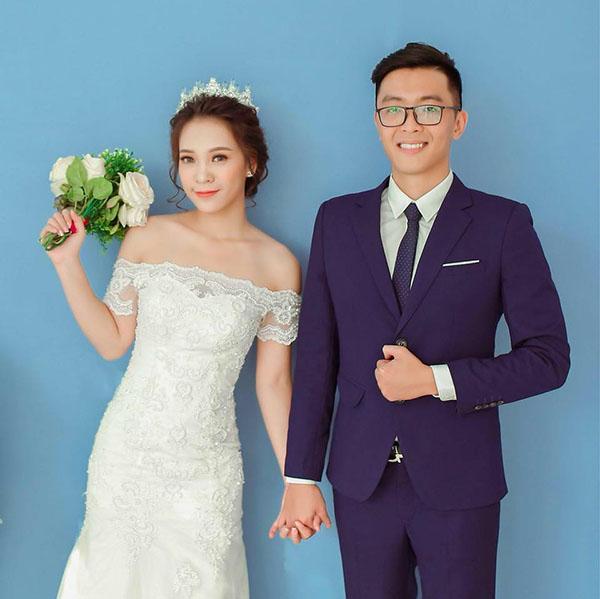 Cô dâu chú rể khi chưa hoán đổi vị trí trong bộ ảnh cưới.