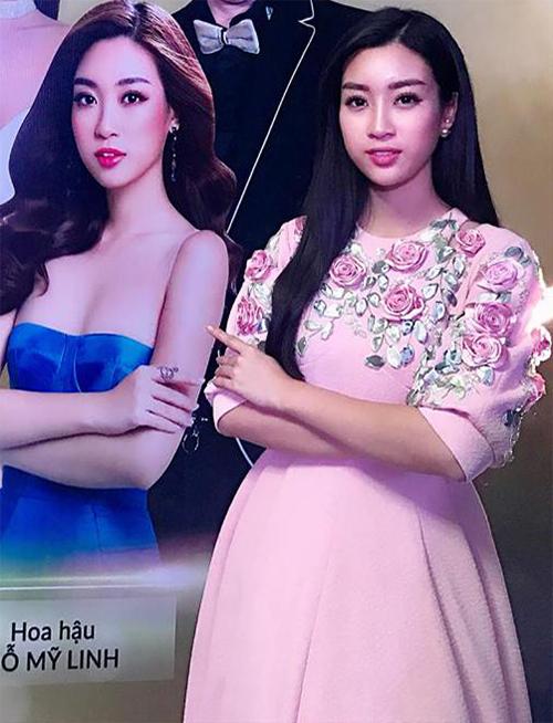 Hoa hậu Mỹ Linh làm so sánh vui giữa ảnh trên mạng và thực tế. Nhiều người nhận xét, dù ảnh poster đã qua chỉnh sửa nhưng nhan sắc yêu kiều của nàng hậu vẫn không hề thay đổi.
