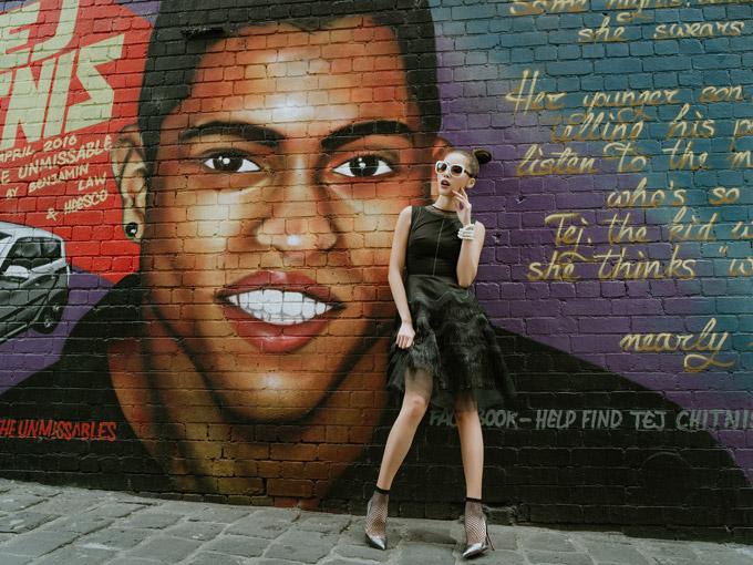 Minh Tú như quý cô sang chảnh trên đường phố Melbourne - 6
