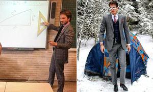 Thầy giáo dạy toán hút fan nhờ vẻ ngoài như tài tử điện ảnh