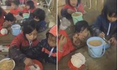 Cộng đồng chia sẻ video bữa cơm của học sinh vùng cao ngày giáp Tết