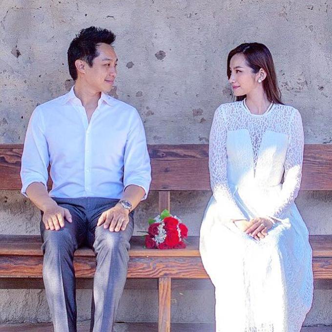 John Từ - ông xã Trúc Diễm - đăng lại bức ảnh cưới cách đây 3 năm nhân ngày kỷ niệm cùng nhiều lời có cánh cho vợ.