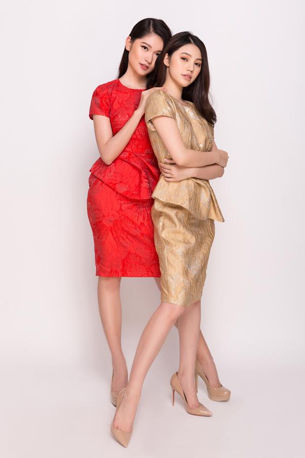 Thùy Dung và Jolie Nguyễn cùng đóng vai trò người mẫu, giới thiệu bộ sưu tập xuân 2018 của nhà thiết kế Phương My.