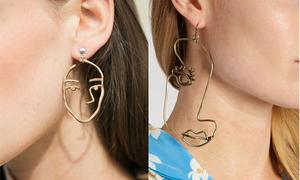 Hoa tai mặt người giúp bạn gái tôn nét cá tính