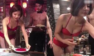 Hàng lẩu thuê nhân viên nữ mặc bikini, nam cởi trần để tri ân khách