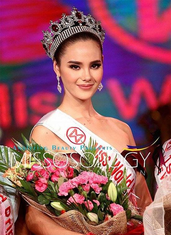 Mỹ nhân của năm 2016 là Hoa hậu Thế giới Philippines, Catriona Gray. Cô giành ngôi vị Á hậu 3 tại Miss World 2016. Dù không đăng quang nhưng Catriona được nhiều người nhận xét là có gương mặt khả ái nhất và được bình chọn là một trong những hoa hậu đẹp nhất trong lịch sử các cuộc thi nhan sắc ở Philippines.