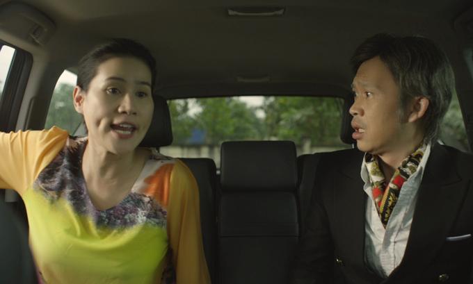 Thân Thúy Hà bất ngờ khi bị Hoài Linh gọi là má trong phim Tết