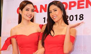 Ninh Hoàng Ngân và Á hậu Nguyễn Thị Loan đọ vai trần trong sự kiện