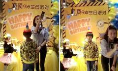 Sinh nhật vắng bóng cha của con trai Đổng Khiết
