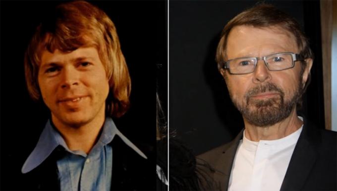 Bjorn Ulvaeus thời ABBA và hiện tại.