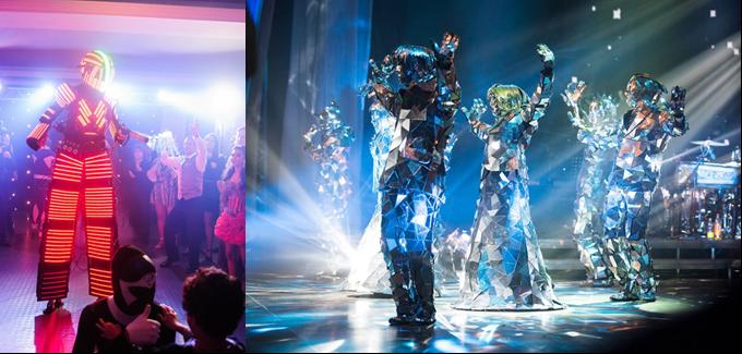 Robot Led và Mirror Dance sẽ trình diễn những điệu nhảy sống động.