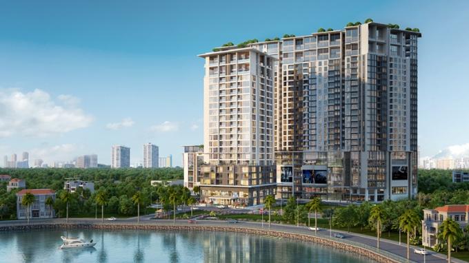 Sun Grand City Thuy Khue Residence là một trong những dự án được mong đợi nhất hiện nay tại khu vực trung tâm Hồ Tây. Sau khi hoàn thành cất nóc dự án vào cuối năm 2017, chủ đầu tư Sun Group đang gấp rút hoàn thiện đồng bộ các hạng mục khác để dự án được bàn giao cho các chủ sở hữu trong quý 3/2018.