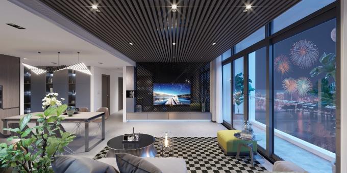 Tổ hợp căn hộ cao cấp và trung tâm thương mại Sun Grand City Thuy Khue Residence do Tập đoàn Sun Group làm chủ đầu tư được thiết kế mở, tạo cảm giác gần gũi với thiên nhiên. Tại đây, chủ sở hữu có thể ngắm trọn cảnh Hồ Tây, đặc biệt là màn bắn pháo hoa rực rỡ vào mỗi dịp Tết đến, xuân về.
