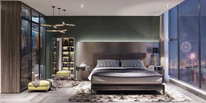 Không gian mở nhưng cũng riêng tư nhờ cách kếp hợp nội thất phong cách Tây Ban Nha lịch lãm, mang đến cảm giác dễ chịu cho chủ nhânkhi trở về nhà.