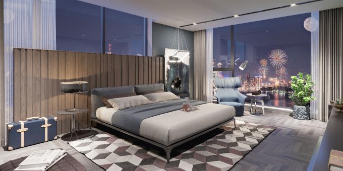 Mỗi không gian trong căn hộ của Sun Grand City Thuy Khue Residence là một tác phẩm của nghệ thuật kiến trúc, sắp đặt và chất liệu. Tất cả mang đến một không gian sống mơ ước, trải nghiệm sống thú vị ngay trung tâm thủ đô.