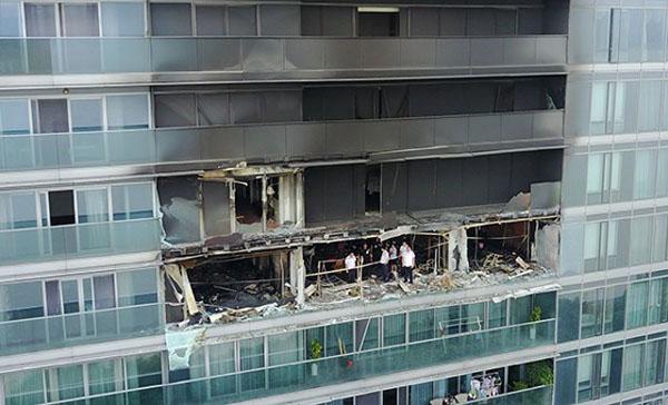Căn hộ của vợ chồng anh Lin bị lửa thiêu trụi. Ảnh: Shanghaiist
