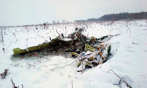 Khoảnh khắc máy bay Nga rơi xuống đất khiến 71 người thiệt mạng